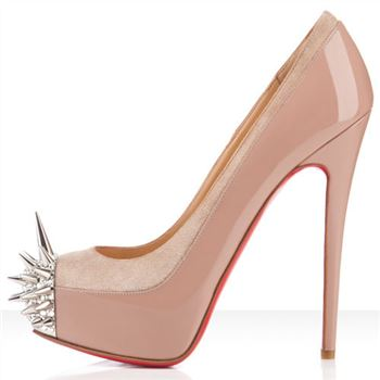 Christian Louboutin Asteroid 140mm Platforms Nude